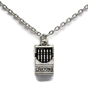 Box of Crayons Necklace Tibetan Silver 4for$20